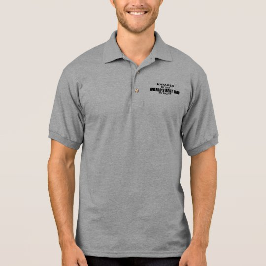 Kayaker World's Best Dad by Night Polo Shirt
