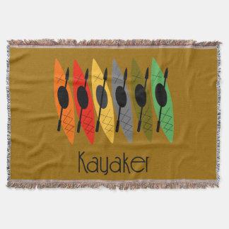 Kayaker Woven Blanket Brown Throw