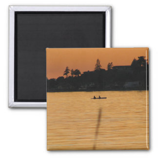 Kayakers 2 Inch Square Magnet