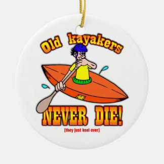 Kayakers Ceramic Ornament