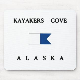 Kayakers Cove Alaska Alpha Dive Flag Mouse Pad