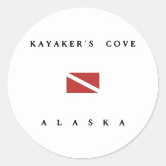 Kayakers Cove Alaska Scuba Dive Flag Classic Round Sticker