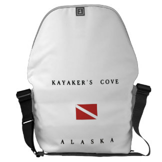 Kayakers Cove Alaska Scuba Dive Flag Messenger Bag