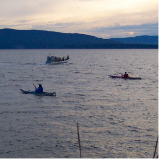 Kayakers en la bahía de Bellingham Fotoescultura Vertical