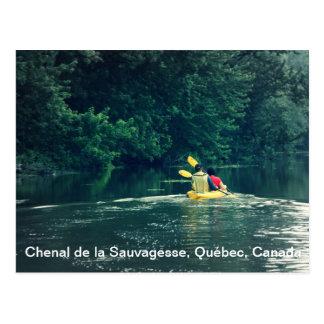 Kayakers en Quebec, Canadá Tarjetas Postales