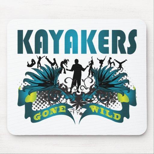Kayakers idos salvajes tapete de ratones