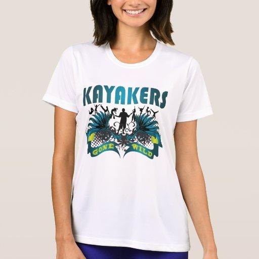 Kayakers idos salvajes tshirts