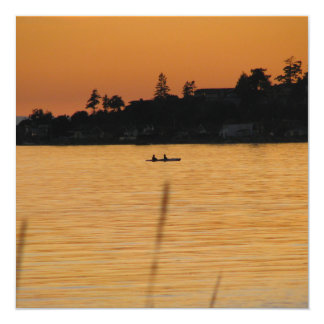 Kayakers Invitación 13,3 Cm X 13,3cm