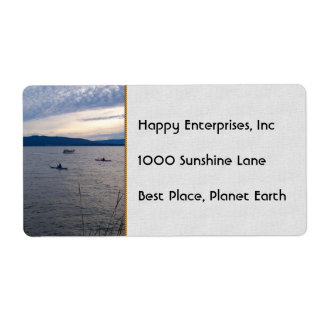 Kayakers On Bellingham Bay Label