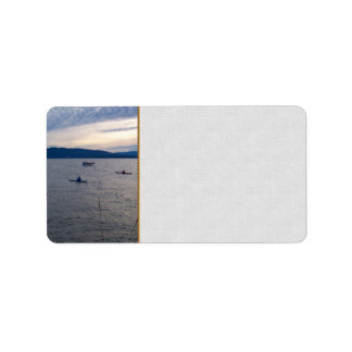 Kayakers On Bellingham Bay Label