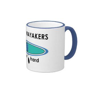 Kayakers Paddle Hard Ringer Coffee Mug