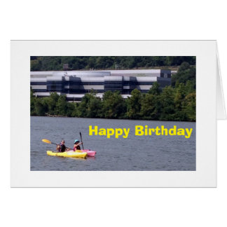KAYAKERS PADDLE OUT TO SAY HAPPY BIRTHDAY CARD