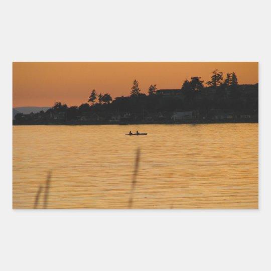 Kayakers Rectangular Sticker