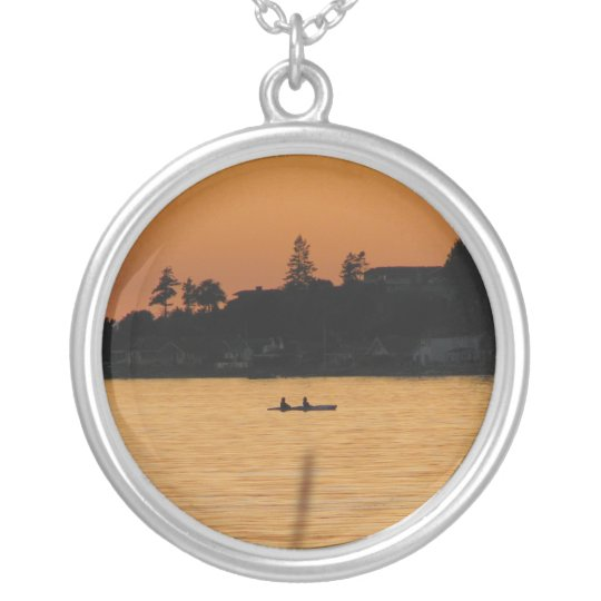 Kayakers Silver Plated Necklace