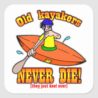 Kayakers Square Sticker