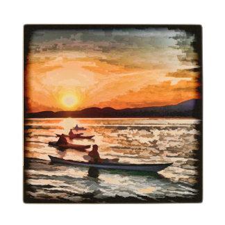 Kayakers Wood Coaster