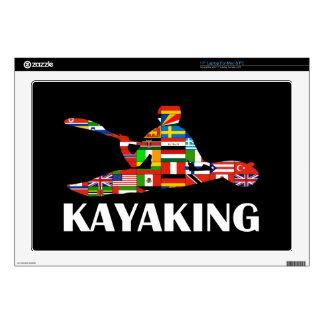 """Kayaking 17"""" Laptop Skin"""
