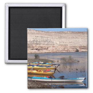 Kayaking 2 Inch Square Magnet