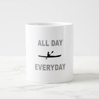 Kayaking All Day Everyday Giant Coffee Mug