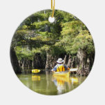 Kayaking Among Trees Christmas Tree Ornaments