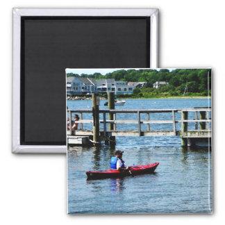 Kayaking at Bristol, RI Refrigerator Magnet