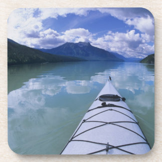 Kayaking at the end end of Azure Lake in Wells Beverage Coasters