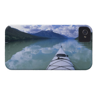Kayaking at the end end of Azure Lake in Wells iPhone 4 Cover