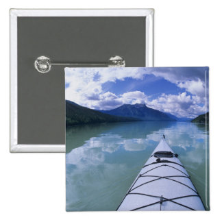 Kayaking at the end end of Azure Lake in Wells Pinback Button