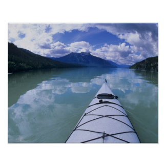 Kayaking at the end end of Azure Lake in Wells Poster