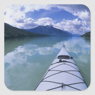Kayaking at the end end of Azure Lake in Wells Square Sticker