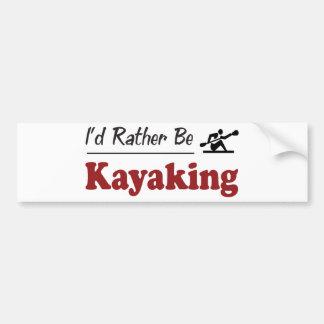 Kayaking bastante pegatina de parachoque