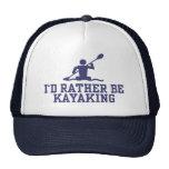 Kayaking bastante gorras