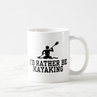 Kayaking bastante taza clásica