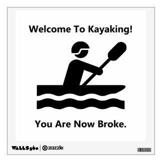 Kayaking Broke Room Stickers