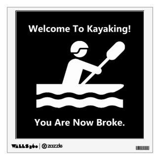 Kayaking Broke Wall Sticker