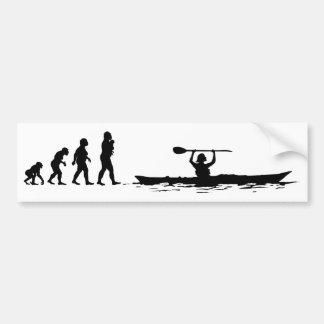 Kayaking Car Bumper Sticker