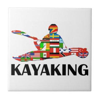 Kayaking Ceramic Tile