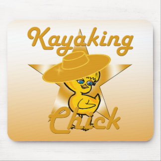 Kayaking Chick #10 Mouse Pad