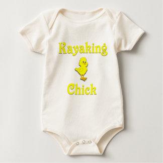 Kayaking Chick Baby Bodysuit