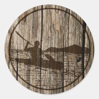 Kayaking Classic Round Sticker