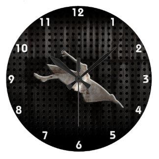 Kayaking; Cool Black Large Clock