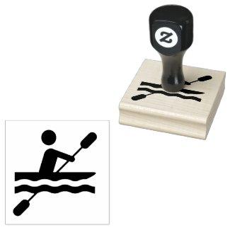 Kayaking Design Wooden Stamp