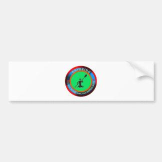 Kayaking designs car bumper sticker