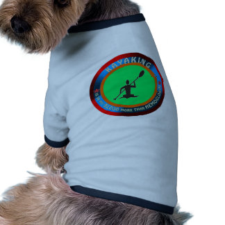 Kayaking designs dog shirt