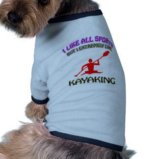 Kayaking designs dog t shirt