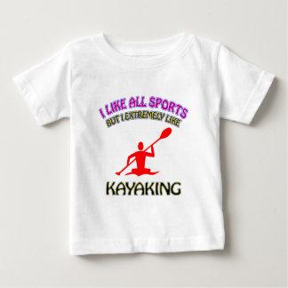 Kayaking designs infant t-shirt