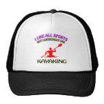 Kayaking designs mesh hats