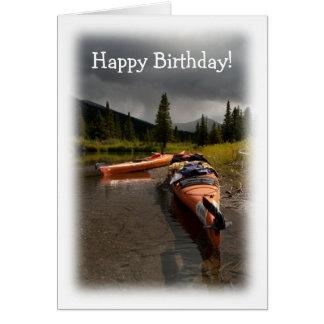 Kayaking el Lapie; Feliz cumpleaños Tarjeta Pequeña
