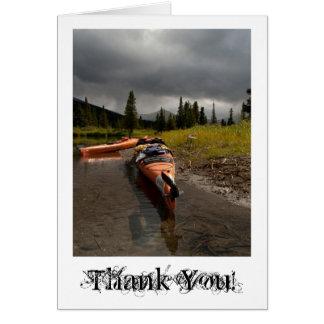 Kayaking el Lapie; Gracias Tarjeta Pequeña