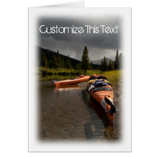 Kayaking el Lapie; Personalizable Tarjeta Pequeña